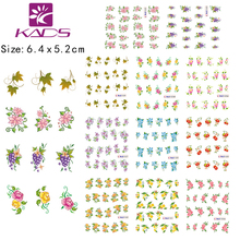 BLE1522 1532 Fruit Flower green leaf grape Nail Art Tips designs nails stickers for Water transfer