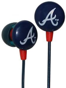 Ihip Mlf10169atl Atlanta Braves Earbuds Mlb Printed Logo