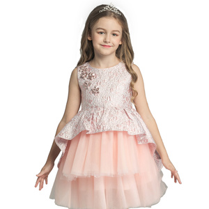 Baby Girls Party Dresses Children Sleeveless Kids Party Wear Dresses