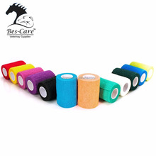 FDA Approved Waterproof Colorful Elastic Horse hoof care Bandages Vet Wrap Bandages .