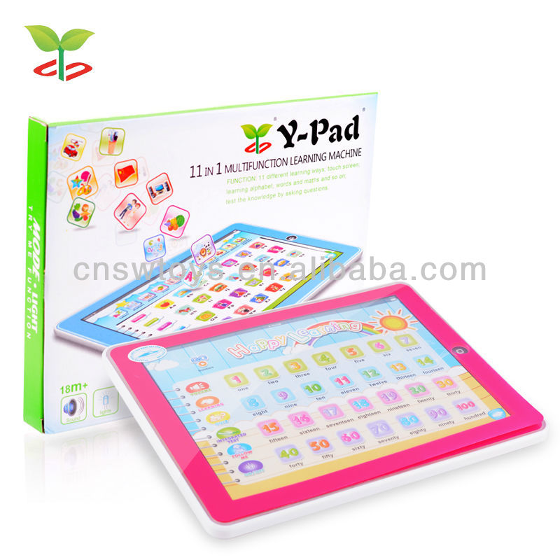 New Y-Pad Tablet Children Learning Machine Toys Touch Screen 11 in 1 Function With Music and Light