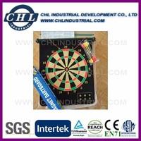 Magnetic dart board for indoor game