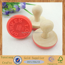 round wood stamp with silicone