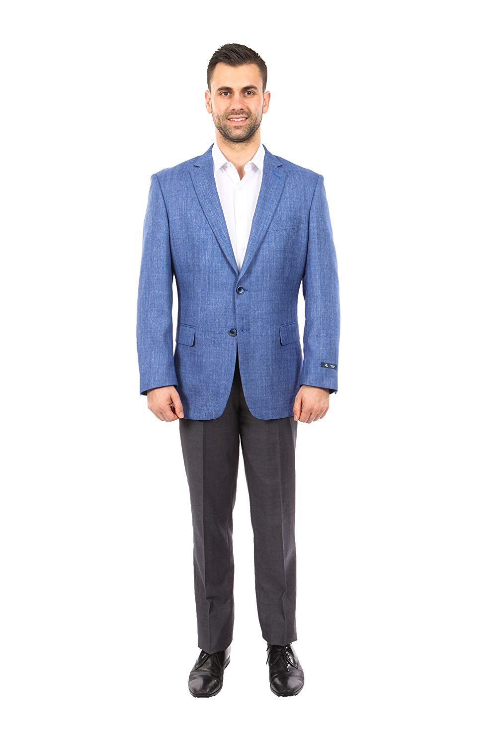 TAZIO Mens Jacket Modern Fit Textured Solid Sports Coat Blazer