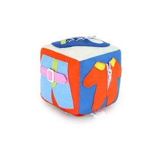 Toddler Early Learning Basic Life Skills Plush Stuffed Cubic Development Toy Plush Toy Dice