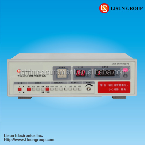 WB2681A good stability dc resistance tester is to Test Home Appliances Insulation Resistance
