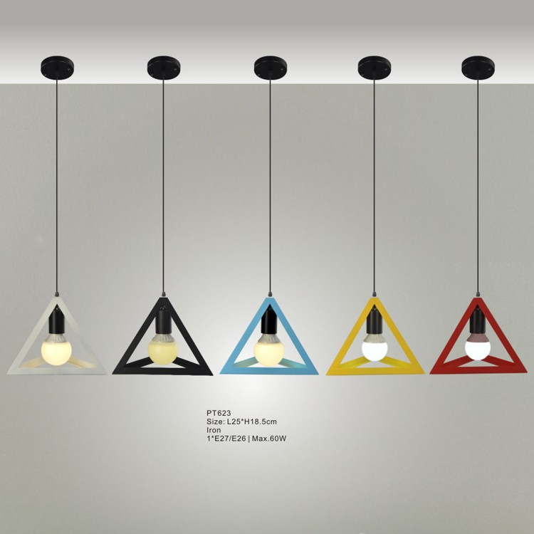 geomtrico cage negro hierro colgante luces moderna gota luces para el hotel casa