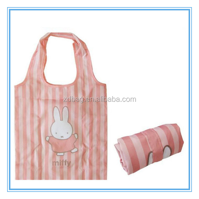 190t vest polyester folding shopping bag into small bag