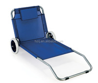 Foldable/Portable Beach Spring Folding Chair With Wheel