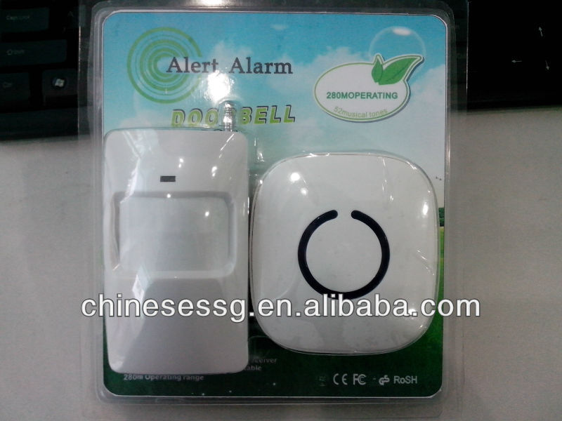 wireless PIR door bell with 52 songs door chime