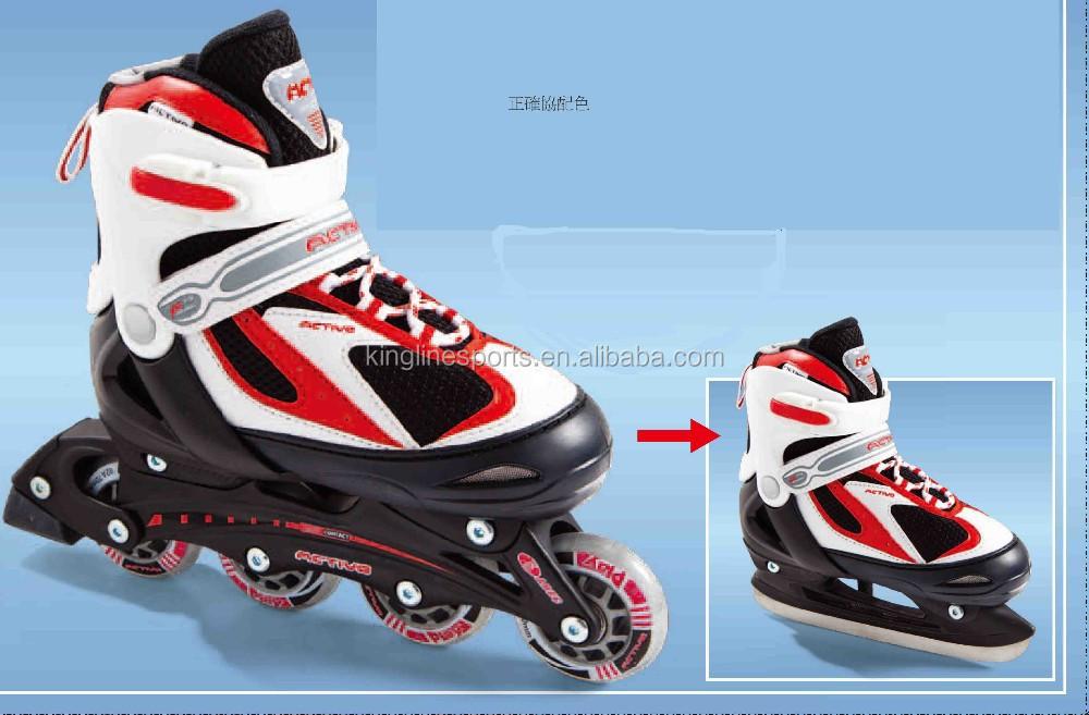2 In 1 Ice Skates And Kids Adjustable Inline Skate