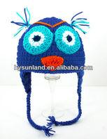 handmade crochet bird hat for news boy