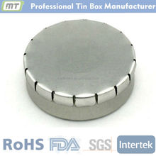 small round click clack tin for trans-flash disk package