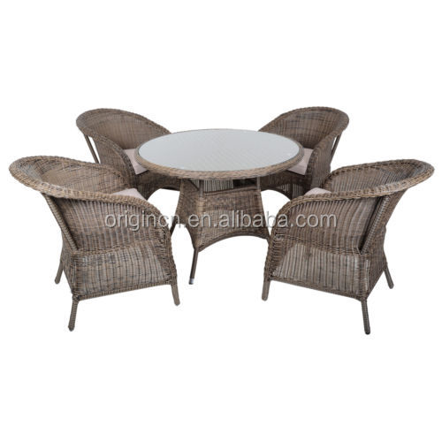 Charmant Retro Old Style Restaurant Dinner Wicker Ratan Chairs Furniture Outdoor  Dining Table Set