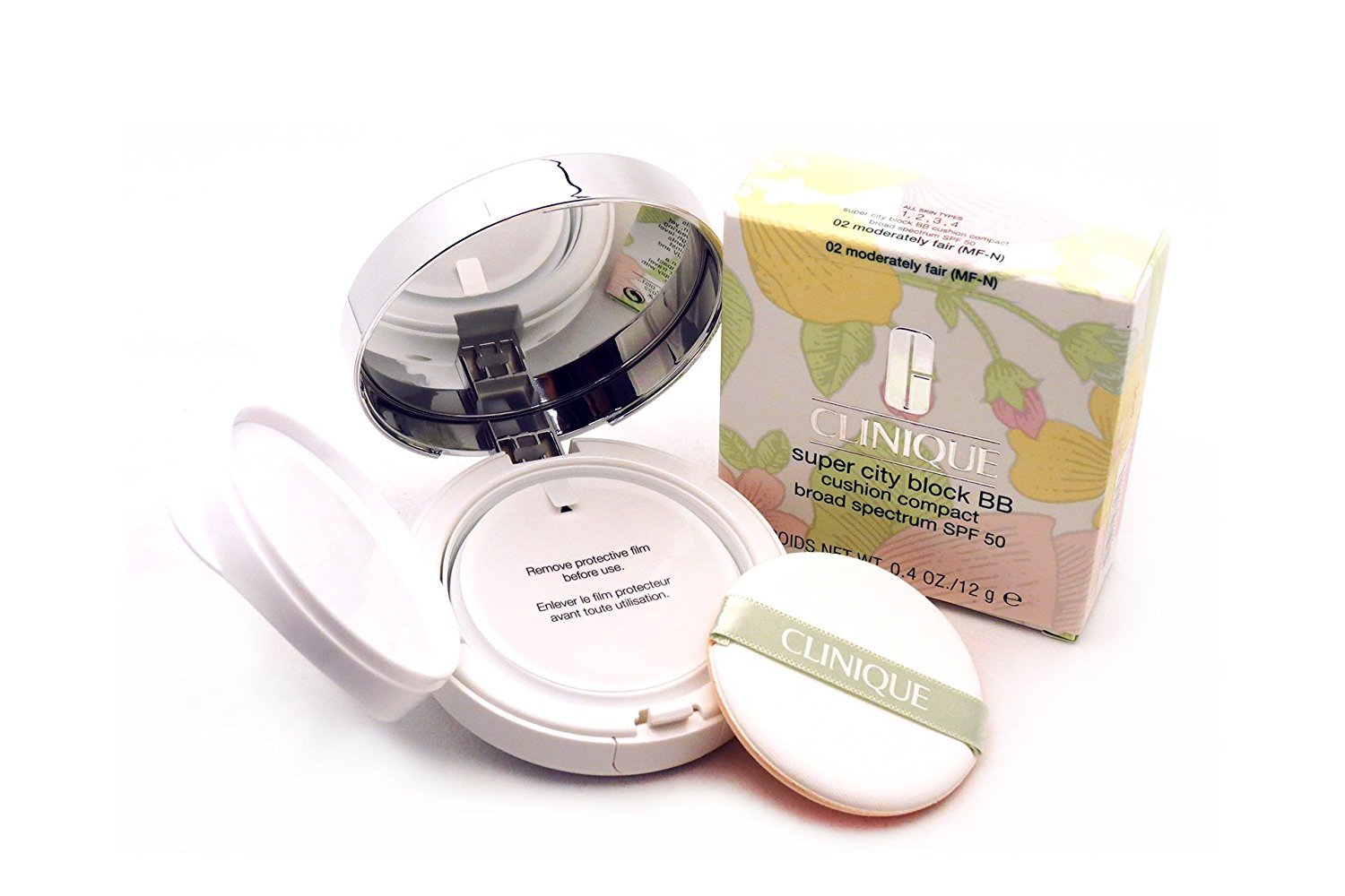 Clinique Super City Block BB Cushion Compact Broad Spectrum SPF 50, 02 Moderately Fair