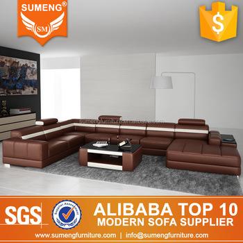Modern Euro Design Home Furniture U Shape Italian Genuine Leather Magnificent Euro Modern Furniture