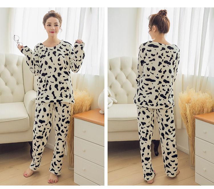 4f161f1ea0 2019 Wholesale Adult Flannel Pajamas Sets Mujer Adults Cartoon Thick ...