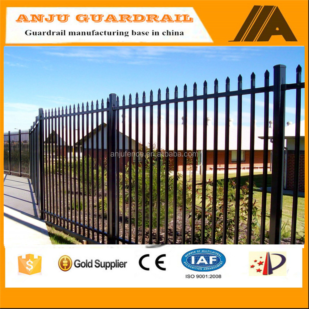 security fence-002 2016 powder coated industrial fencing,wrought iron fence ornaments