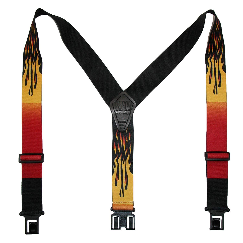 """Perry Suspenders Mens Elastic Hook End 2"""" Novelty Suspenders"""