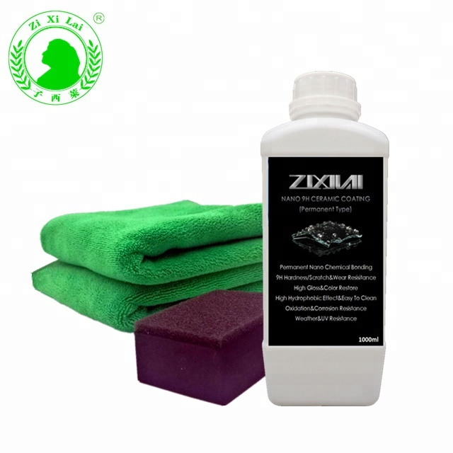 ZIXILAI-SS01 9H nano super hydrophobic <strong>coatings</strong> for cars nano ceramic <strong>coating</strong> for cars OEM acceptable