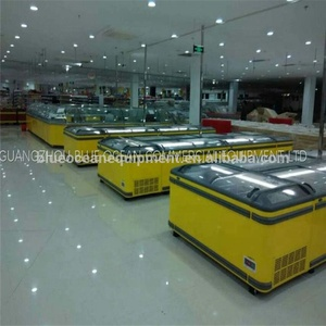 island freezer in supermarket refrigeration equipment blue ocean commercial equipment