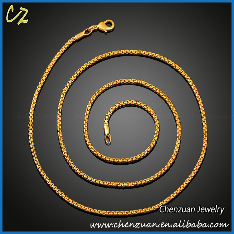 Factory Price Simple Gold Chain Designs 18k Gold Chain Necklace ...