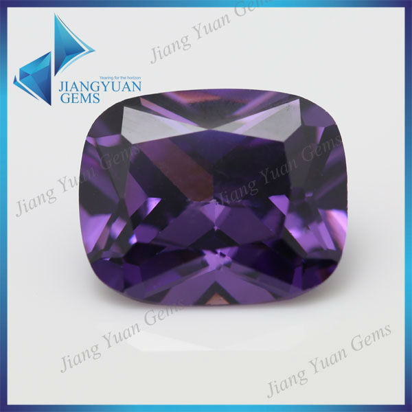 lab created cushion cut amethyst stone factory wholesale price aa zircon stone