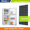 solar energy 12v dc commercial refrigerator for fruits and vegetables