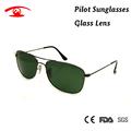 2016 New High Quality Pilot Sunglasses Men G15 Green Glass Sun Glasses for Men Brand Designer
