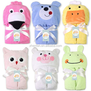 100% cotton towel flannel cartoon animal multi-function baby blanket