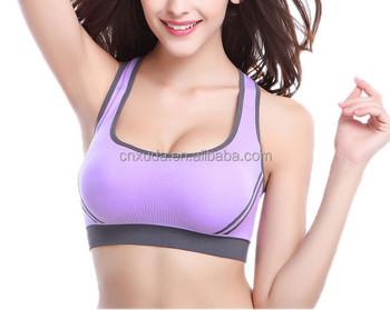 3909ef93e Aliexpress Mulheres Spandex sutiã esportivo yoga corrida Respirável  Sportswear colete Sem Costura sutiã yoga com acolchoado
