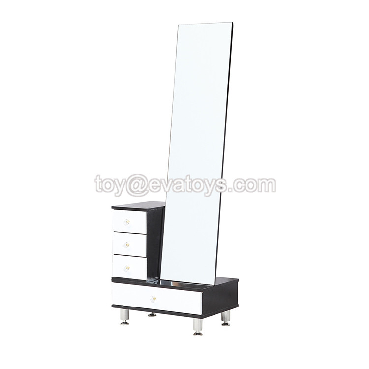 wholesale cheap wooden modern mirrored bedroom set with cabinet W08H083