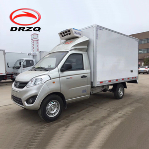 Frozen food transport refrigerator vehicle