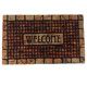 Flocking rubber door mat door carpet manufacturers manufacturing wholesale easy cleaning quality