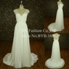 wholesale factory beading shoulder casual cap sleeves chiffon real sample wedding dress