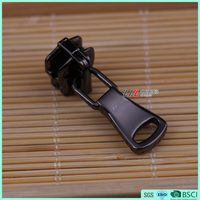 #5 Top quality metal zipper slider custom engraved zipper pull with RJ5022 puller environmental zipper head