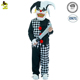 Boys Evil Jester Costumes Kids Scary Clown Killer Fancy Clothes Halloween Party Grim Buffon Evil Clown Costume