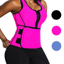 Yiduo Waist Trainer Cincher Body Shaper Neoprene Sweat Sauna Vest With Zipper