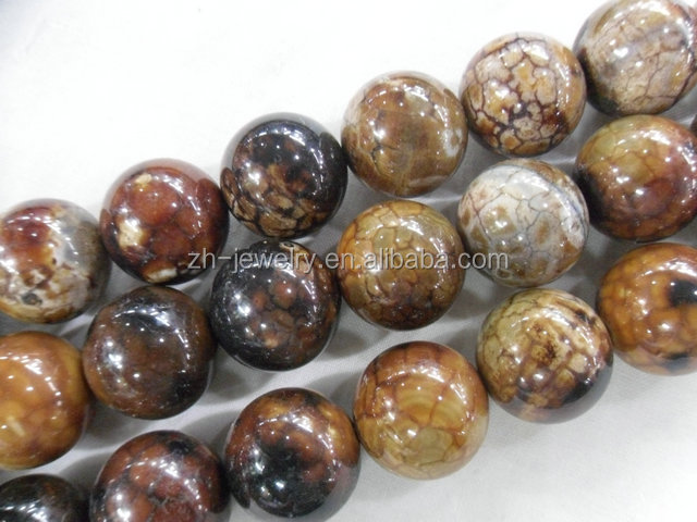 jewelry accessory factory onyx stone wholesale natural deep sea agate rose color round beads