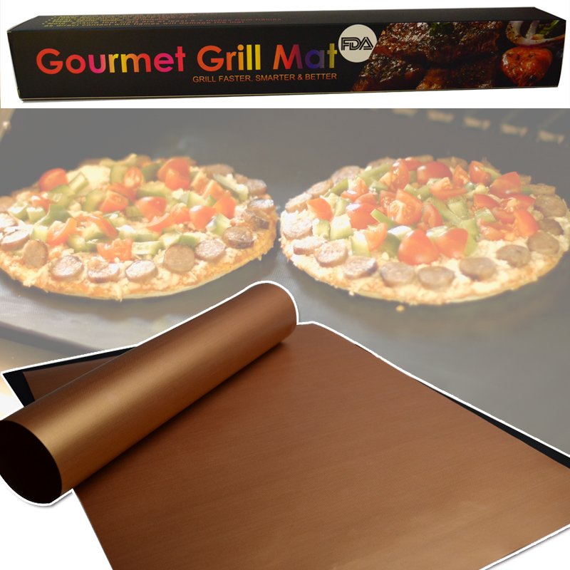 Free Sample 2mm Thickness Rectangle Heavy Duty Teflon Oven Liners Non Stick Cooking Backing Mat