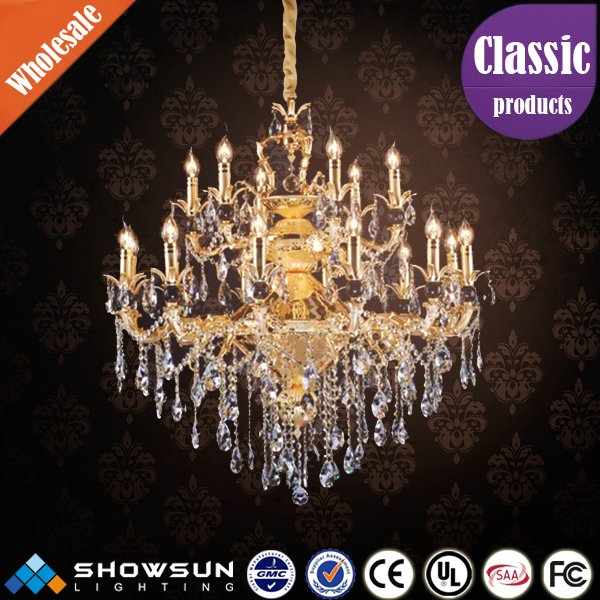 Guzhen lighting factory wholesale Europe style delicate crystal candle chandelier