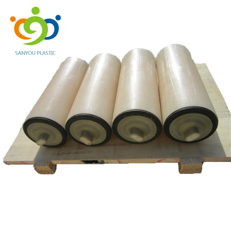 UHMWPE/HDPE conveyor guide <strong>roller</strong> belt plastic carrier <strong>rollers</strong>