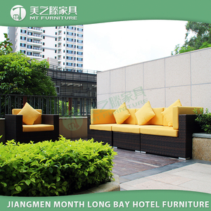 Famous hospitality outdoor rattan furniture patio wicker sectional sofa set