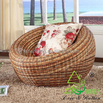 natural rattan cane wicker round lounge sofa chair buy. Black Bedroom Furniture Sets. Home Design Ideas