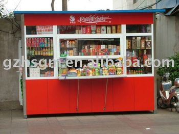 Calle Metal Estructura De Acero Tienda Kiosco Buy Cafetería Quiosco Expendedora Tienda Tienda Mini Product On Alibaba Com