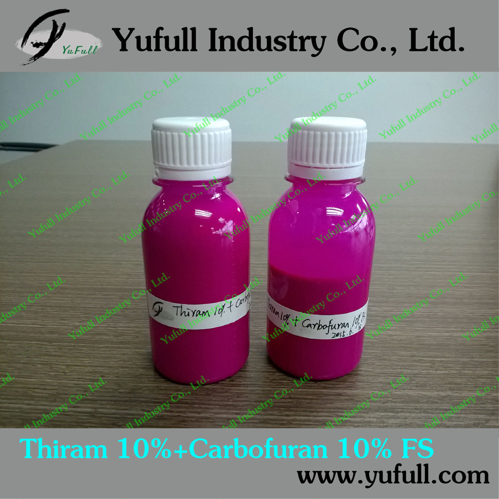 Seed treatment fungicide Thiram 10%+Carbofuran 10% FS formulation mixture fungicide