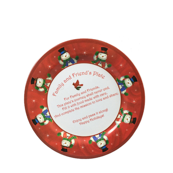 Custom design full print food contact safe melamine cookie plate