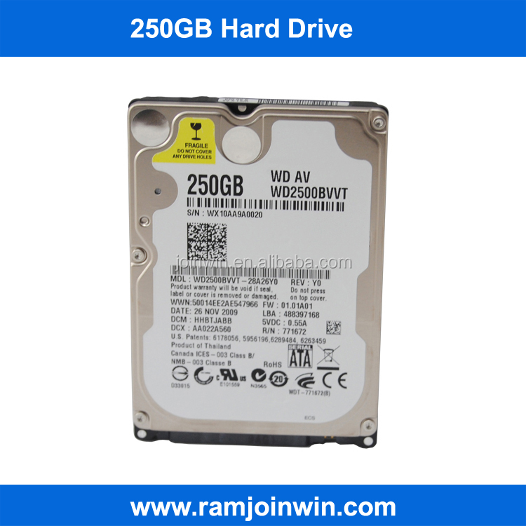 Computer parts 2.5inch 250GB hard disk wholesale