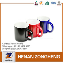 2017 Wholesale Heart Handle ceramic sublimation mug / change color mug / custom color changing mug