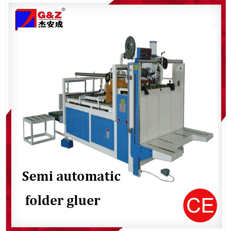 Automatic folding carton box gluing machine Corrugated box folding and gluing